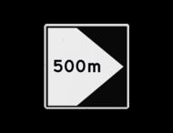 Scheepvaartbord BPR F. 2a rechts - Richtingaanduiding met zijborden