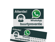 WhatsApp Buurtpreventie Reflecterende stickers (set 10 stuks) - L209wa