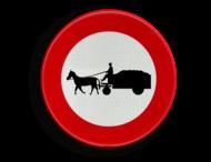 Verkeersbord België C13 - Verboden toegang voor bestuurders van gespannen
