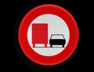 Verkeersbord België C39 - Verbod voertuigen met toegelaten massa > 3500 kg in te halen