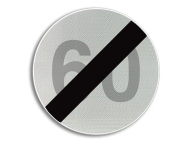 Verkeersbord België C45 - Einde van de snelheidsbeperking opgelegd door het verkeersbord C43