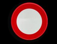Verkeersbord België C3 - Verboden toegang, in beide richtingen, voor iedere bestuurder