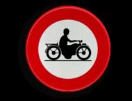 Verkeersbord België C7 - Verboden toegang voor bestuurders van motorfietsen