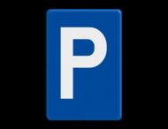 Verkeersbord België E9a - Parkeren toegelaten