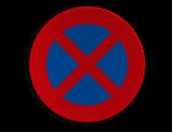 Verkeersbord België E3 - Stilstaan en parkeren verboden