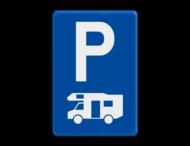Verkeersbord België E9h - Parkeren uitsluitend voor kampeerauto's