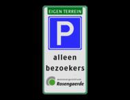 Verkeersbord eigen terrein + logo