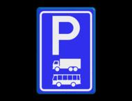 Verkeersbord RVV E08a - Parkeerplaats vrachtwagens en bussen