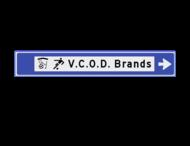 Verwijsbord 1130x175x32mm sport - 2 pictogrammen