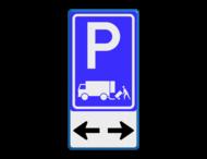 Verkeersbord RVV E07 + pictogram