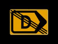 Tekstbord - T201r-de - Werk in uitvoering