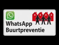 Verkeersbord L209d WhatsApp Buurtpreventie - 01