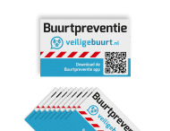 Veiligebuurt.nl - Stickerset - Buurtpreventie Reflecterend ( 10 stuks )