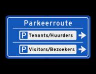 Bewegwijzering Parkeerroute 2 richtingen - rechthoek