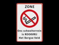 Informatiebord - ZONE Rookverbod + eigen tekst