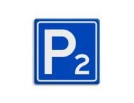 Verkeersbord - Parkeergelegenheid met nummer