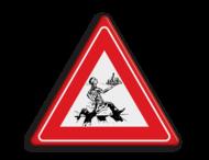 Verkeersbord overstekende ober - schets