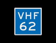 Scheepvaartbord BPR E.23 - Marifoonkanaal voor nautische informatie
