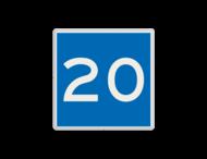 Scheepvaartbord BPR E. 5. 1 - Toestemming ligplaats te nemen tot de breedte in aangegeven meters