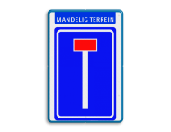 Verkeersbord RVV L08 - Banner
