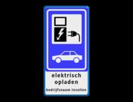Parkeerbord BEW101 SP19 + 2x tekst