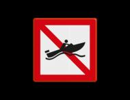 Scheepvaartbord BPR A.18 - Verboden voor snelle motorboten