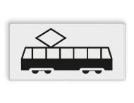 Verkeersbord RVV OB14 - Onderbord - Geldt alleen voor tram