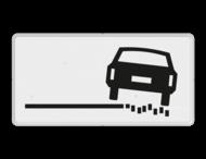 Verkeersbord RVV OB18r - Onderbord - rechts zachte berm