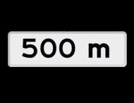 Verkeersbord RVV OB401- meter - Onderbord - Afstands-aanduiding na ... M