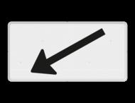 Verkeersbord RVV OB504l - Onderbord - Verwijzing rijbaan of parkeervak