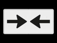Verkeersbord RVV OB503 - Onderbord - Gevaar van 2 richtingen