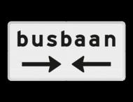 Verkeersbord RVV OB503OB619- Onderbord - Kruising busbaan