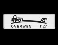 Verkeersbord RVV OB618 - Onderbord - Verhoogde overweg