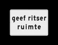 Verkeersbord RVV OB727 - Onderbord - geef ritser ruimte