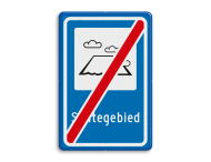 Verkeersbord RVV L306e - Stiltegebied - einde