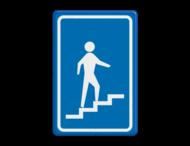 Verkeersbord RVV L301rb - Trap naar boven