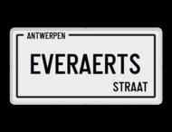 Straatnaambord België 400x200