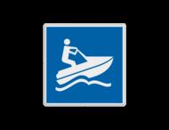 Scheepvaartbord BPR E.24 - Waterscooter toegestaan
