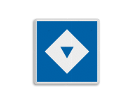 Scheepvaartbord BPR E. 5.13 - Ligplaatsen voor schepen met één kegel