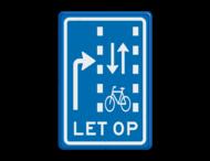 Verkeersbord RVV VR09-03 - Let op: recht doorgaande fietsers in twee richtingen