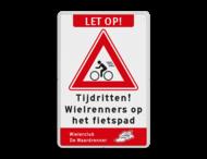 Informatiebord Wielrenners - inclusief logo/huisstijl