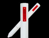 Bermpaal FLEXIBEL 1100x105mm kunststof + reflector