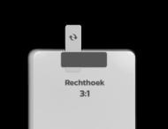 Basisbord omgezette rand - type 3:1 - rechthoek