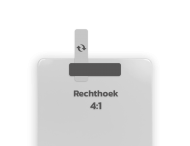 Basisbord omgezette rand - type 4:1 - rechthoek