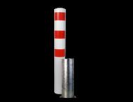 Rampaal Ø152x2000mm, diverse montageopties, verzinkt of wit/rood
