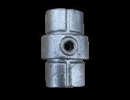 Koppelstuk voor buis Ø48mm gegoten aluminium Inbus