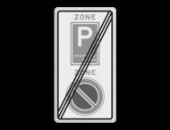 Verkeersbord RVV E01E09ze - ZONE bord einde