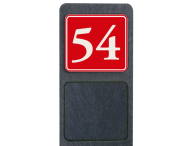 Huisnummerpaal met bord reflecterend 119x109mm