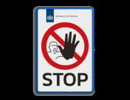 Entreebord STOP-BORD - in huisstijl - P000