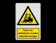 Waarschuwingsbord W014 - Gevaar industriële voertuigen zoals heftrucks